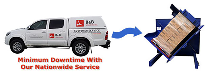 B and B servicing van