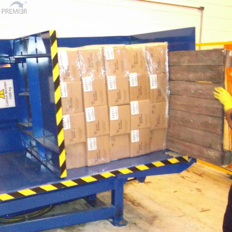 G95 Pallet Inverter being loaded by hand